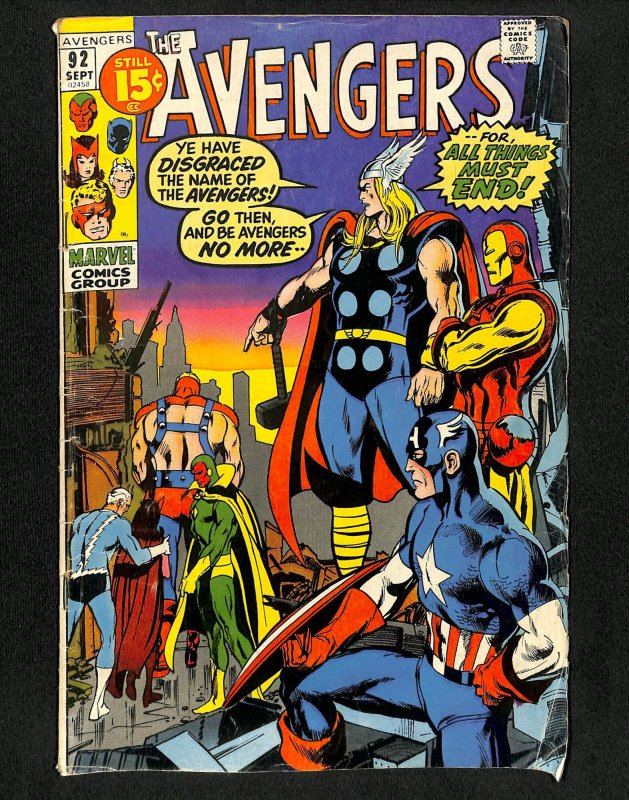Avengers #92 Neal Adams Cover!