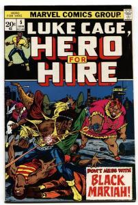 HERO FOR HIRE #5-1973-LUKE CAGE-Black Mariah-MARVEL vf