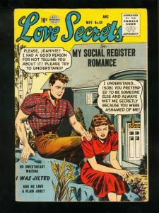 LOVE SECRETS #53 1956-SPICY GOOD GIRL ART-QUALITY COMICS-fine FN
