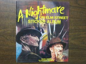 A Nightmare on Elm Street Movie Trilogy Sticker Album Just the Book No Stickers!