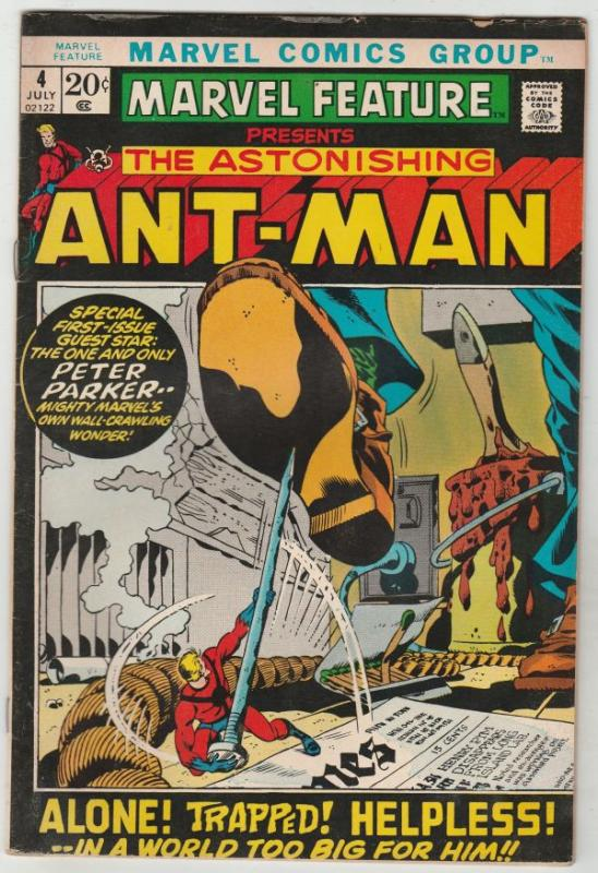 Marvel Feature presents The Astonishing Ant-Man #4 (Jul-72) GD/VG- Affordable...