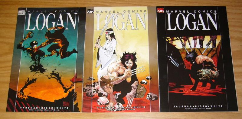 Logan #1-3 VF/NM complete series - wolverine - brian k. vaughan set lot 2 marvel