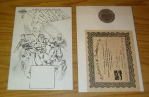 Astonishing X-Men #1 VF/NM marvel authentix blank variant w/COA (1396/3500)