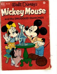 Four Color # 362 VG Dell Golden Age Comic Book Mickey Mouse Diamonds JL1