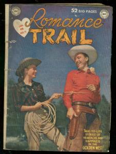 ROMANCE TRAIL #4 1950-DC COMICS-PHOTO COVER-STUNT GIRL VG