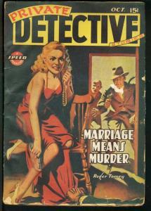 PRIVATE DETECTIVE 1943 OCT-RARE PULP G/VG
