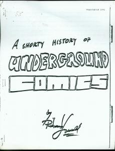 A Short History of Underground Comics by Richard Small reproduction