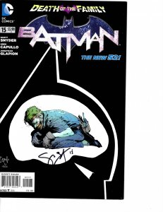 Batman (2011) #15 Very Fine- (7.5) New 52 Signed Scott Snyder
