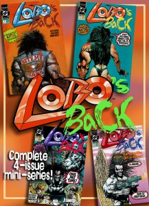 Full Run! LOBO'S BACK #1 - 4 (1992) 9.0 VF/NM  Fragtasticly Punkish 'Mature' Fun