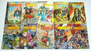 Wild Knights #1-10 VF/NM complete series - evan dorkin - ex-mutants set lot 1988