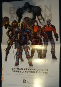 BATMAN ARKHAM ORIGINS SERIES 2 ACTION FIGURES Promo Poster, 11 x 17, 2013 DC 514