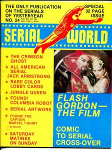 Serial World #24 1980-Jungle Queen-Crimson Ghost-Jack Armstrong-FN/VF