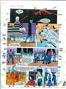 Elementals #9 Page #28 Original Color Guide Ken Feduniewicz