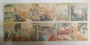 Tales Of The Green Berets by Joe Kubert from 7/9/1967 Size: 7.5 x 15 inches