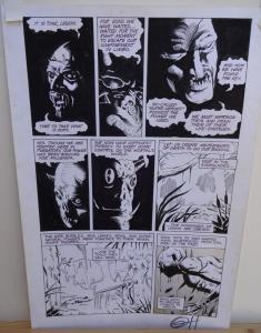 GREG HORN original art, FEMFORCE HOUSE OF HORROR #1 pg 1, Signed, Monsters, 1989