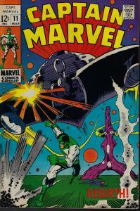Captain Marvel #11 (Marvel, 1969) F+/VF-