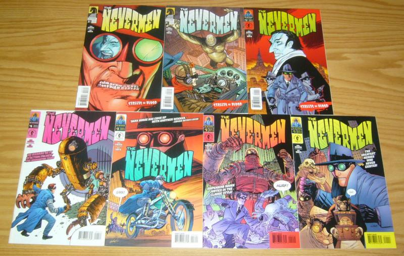 the Nevermen #1-4 VF/NM complete series +streets of blood 1-3 they never existed