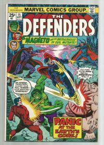 DEFENDERS #15, VF, Hulk, Dr Strange, Magneto, Evil Mutants, 1972 1974, Marvel