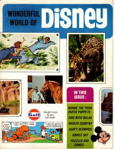 Wonderful World of Disney #1 1968 Magazine from Gulf Jungle Book Mickey Scrooge+