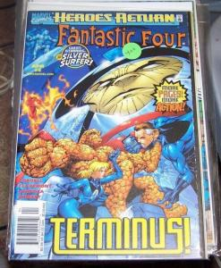 FANTASTIC FOUR #4 vol 3 1998  MARVEL heroes return  silver surfer TERMINUS
