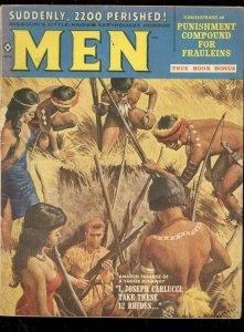 MEN MAGAZINE JUNE 1959-PUNISHMENT COMPOUND-KUNSTLER ART VG