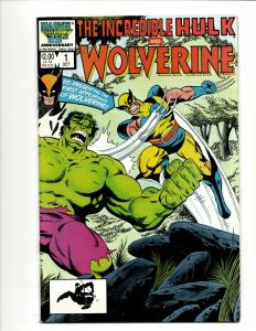 Lot Of 2 Marvel Comics Incredible Hulk & Wolverine # 1 + Spider-Man & W 1 NM DS4
