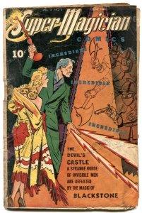 Super Magician Vol 4 #2 1945- Lady in White- BLACKSTONE low grade