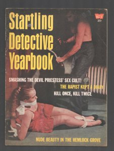 Startling Detective Yearbook #3 1965-Bound & gagged woman horror coverr-explo...