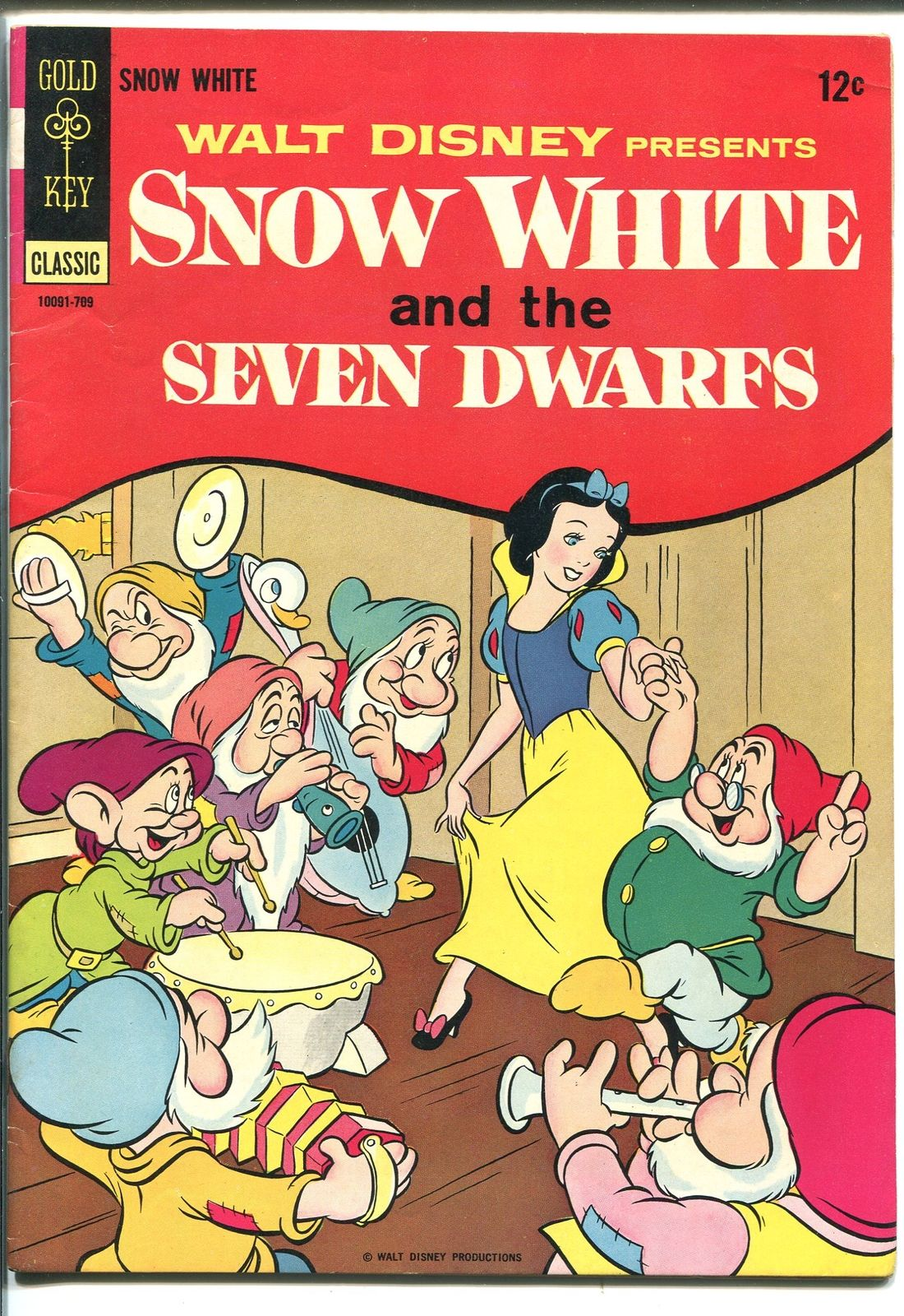 SNOW WHITE AND THE SEVEN DWARFS 1967-GOLD KEY-WALT DISNEY-1967