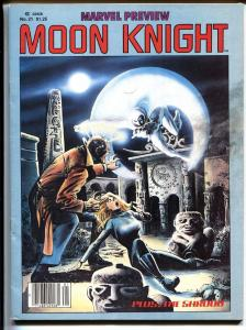 MARVEL PREVIEW #21 1980-First solo Moon Knight story
