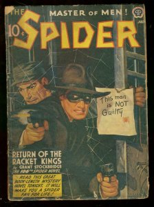 The Spider Pulp 7/1942- RETURN OF THE RACKET KINGS #106 G/VG
