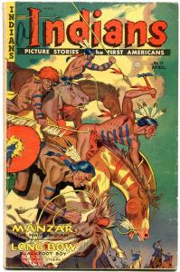 INDIANS  #11 1952-MANZAR-LONG BOW-Golden Age Fiction House Western VG-