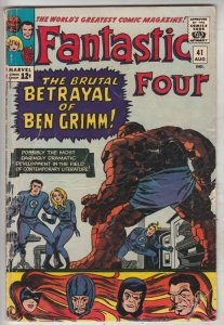 Fantastic Four #41 (Aug-65) VG+ Affordable-Grade Fantastic Four, Mr. Fantasti...