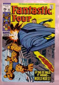 FANTASTIC FOUR #95 1970-THE THING-JACK KIRBY MARVEL ART VF/NM