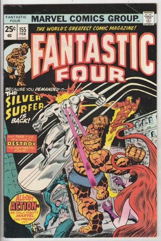 Fantastic Four #155 (Feb-75) VF+ High-Grade Fantastic Four, Mr. Fantastic (Re...