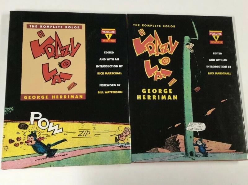 The Komplete Kolor Krazy Kat 1 2 Hc Hardcover Set Nm Near Mint Kitchen Sink