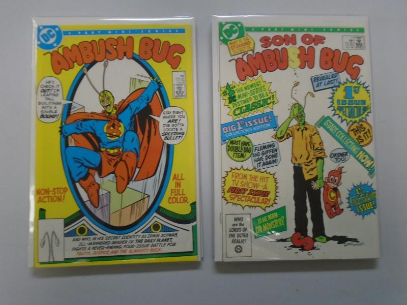 Ambush Bug #1 to #4 & Son of Ambush Bug #1 to #6 - see pics - 8.5 - 1985 & 1986