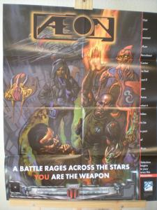 AEON Promo poster, Glenn Fabry, 22x28, Unused, more Promos in store