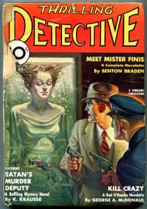 Thrilling Detective January 1935- Green Ghost- Mr Finnis- House of Frogs FAIR