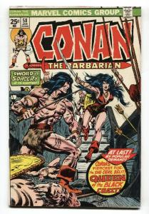 Conan The Barbarian #58 1976 VF-  First appearance of Belit Marvel