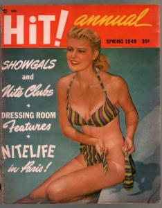 Hit! Annual-Spring 1949-pin-up girl cover-Burlesque-cheesecake pix-glamour-VG