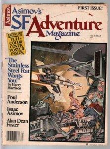 Asimov's SF Adventure Mag #1 Fall 1978-Poul Anderson-Alex Schomburg-G/VG