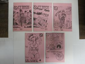 LT DISH (1990 CONQUEST) 1-5 Complete Mini-comix series!