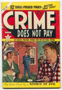Crime Does Not Pay #94 1950- Chip Gardner- Painted cover VG+