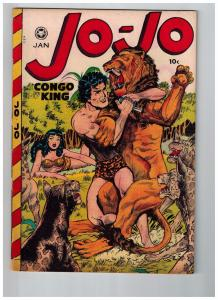 Jo-Jo Congo King # 23 VF 1949 Fox Features GOLDEN AGE Comic Book Jungle JJ1
