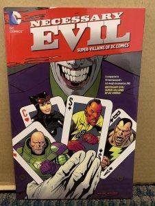 """DC NECESSARY EVIL Trade Paperback """"Super-Villains of DC Comics"""" (D16)"""