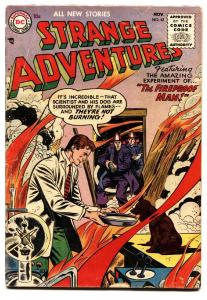 STRANGE ADVENTURES #63-1955-DC Fireman COVER-CODE APPROVED