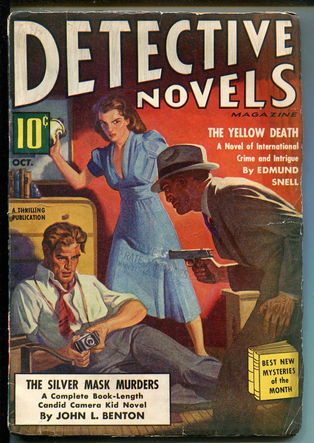 DETECTIVE NOVELS 10/1939-MYSTERY & CRIME PULP-CANDID CAMERA KID