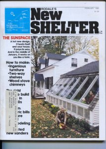 New Shelter #1 2/1980-Rodale Press-design your own house-live underground-1st...