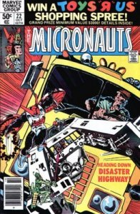 Micronauts #22 Marvel 1980 4.0 VG (Stock Photo)